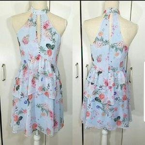 Flirty Express floral dress with ruffles